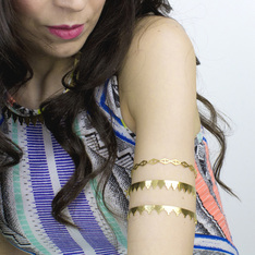 Amelia May aztec bracelets and armlets