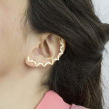 Amelia May unique earrings and gold ear cuffs